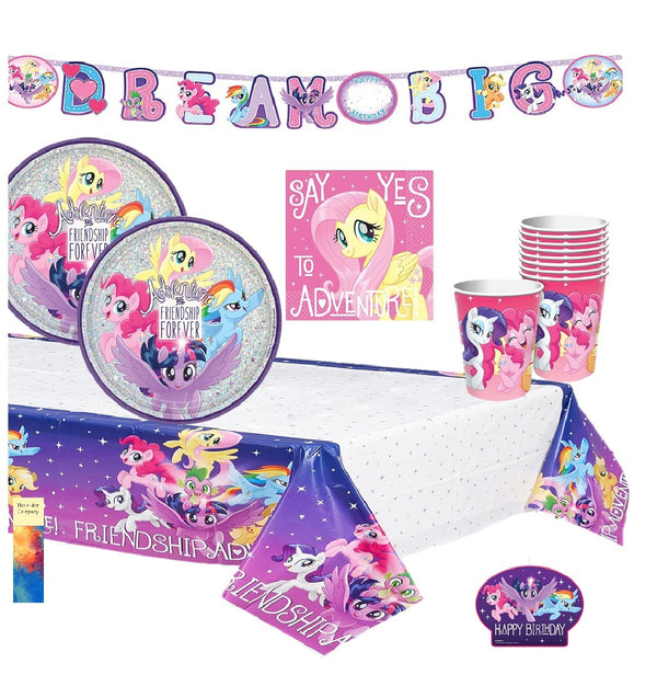 My Little Pony Party Supplies with Candle
