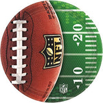 Amscan NFL Football Tailgate Birthday Party Round Dessert Plates (8 Pack), Multi Color, 7 x 7