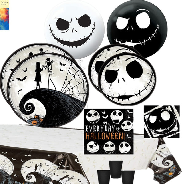 The Nightmare Before Christmas Party Supplies for 8 with Balloons