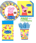 Peppa Pig Birthday Party Supply Pack for 16 Guests