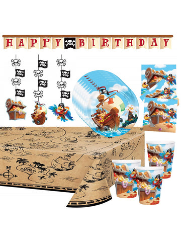 Pirate Birthday Party Supplies with Decorations