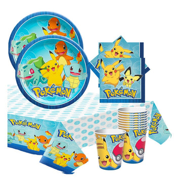 Pokemon Birthday Party Tableware Pack for 16