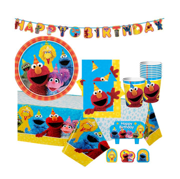 Sesame Street Birthday Party Supplies with Banner