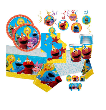 Sesame Street Birthday Party Pack for 16 with Decorations