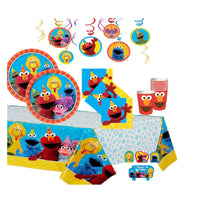 Sesame Street Birthday Party Supplies with Elmo Cups