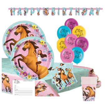 Spirit Horse Birthday Party Supplies with Banner