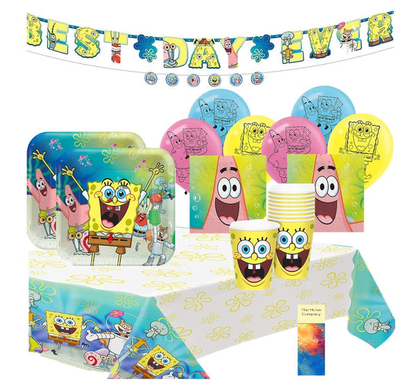 SpongeBob Square Pants Birthday Party Supplies with Banner
