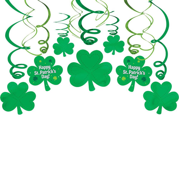 St. Patrick's Day Swirl Decorations - 30 pieces