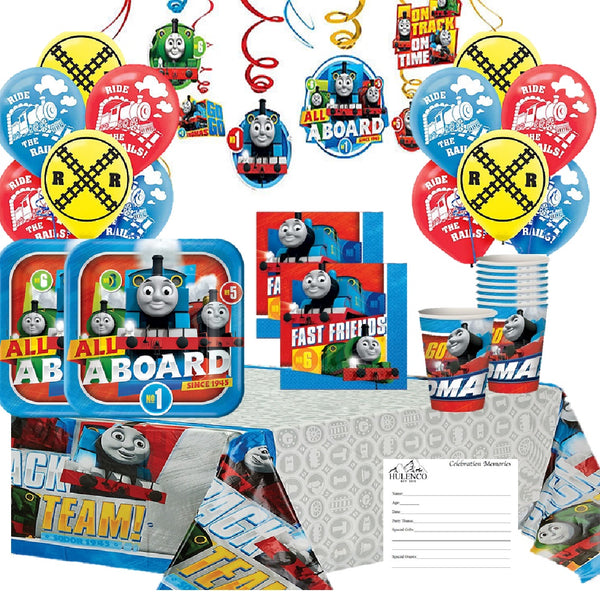 Thomas the Train Deluxe Birthday Party Supplies for 16 Guests