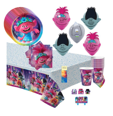 Trolls World Tour Party Supplies with Candles