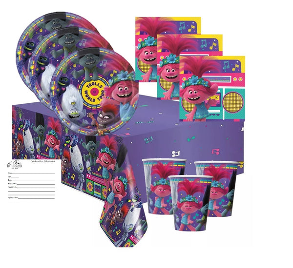 Trolls World Tour Birthday Party Supplies