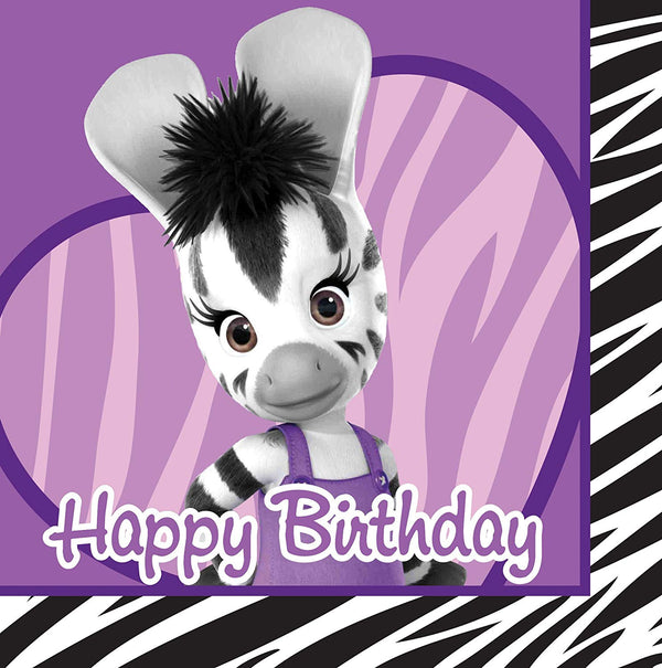 Zou Elzee Zebra Birthday Lunch Napkin