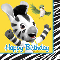 Zou Zebra Happy Birthday Lunch Napkins