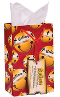 Believe Christmas Bell Gift Bag - 12 pieces - Shipped USPS First Class