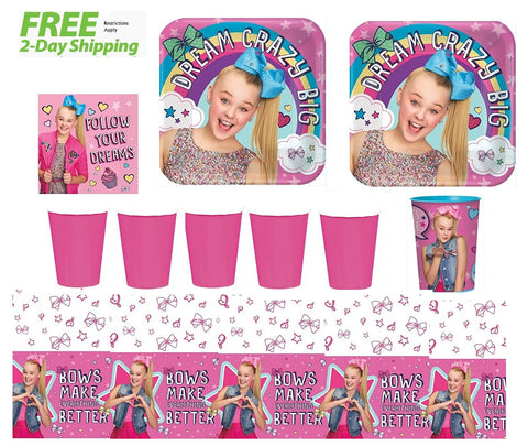 JoJo Siwa Party Supply Kit for 16