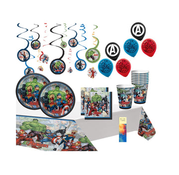 Marvel Avengers Birthday Party Supplies with Balloons