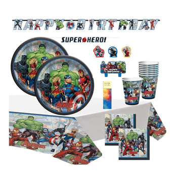 Marvel Avengers Birthday Party Supplies with Banner