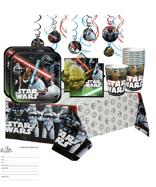 Classic Star Wars Birthday Party Supplies with Swirls