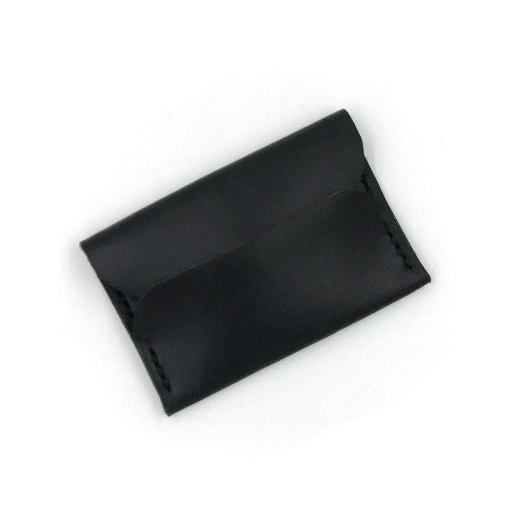 Black Leather Wallet | Business Card Holder