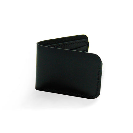 Black Leather Billfold Wallet | Handmade Leather Wallet