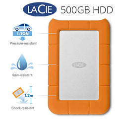 Lacie Rugged Mini Hard Drive 500GB - E-Square AU