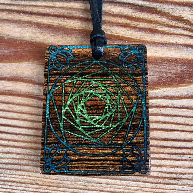 Custom: Glow Sacred Geometry Necklace