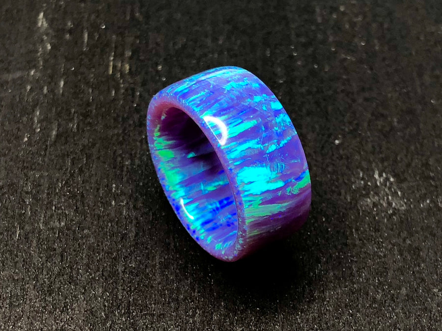 DISCOUNTED: Periwinkle Fire Solid Opal Ring