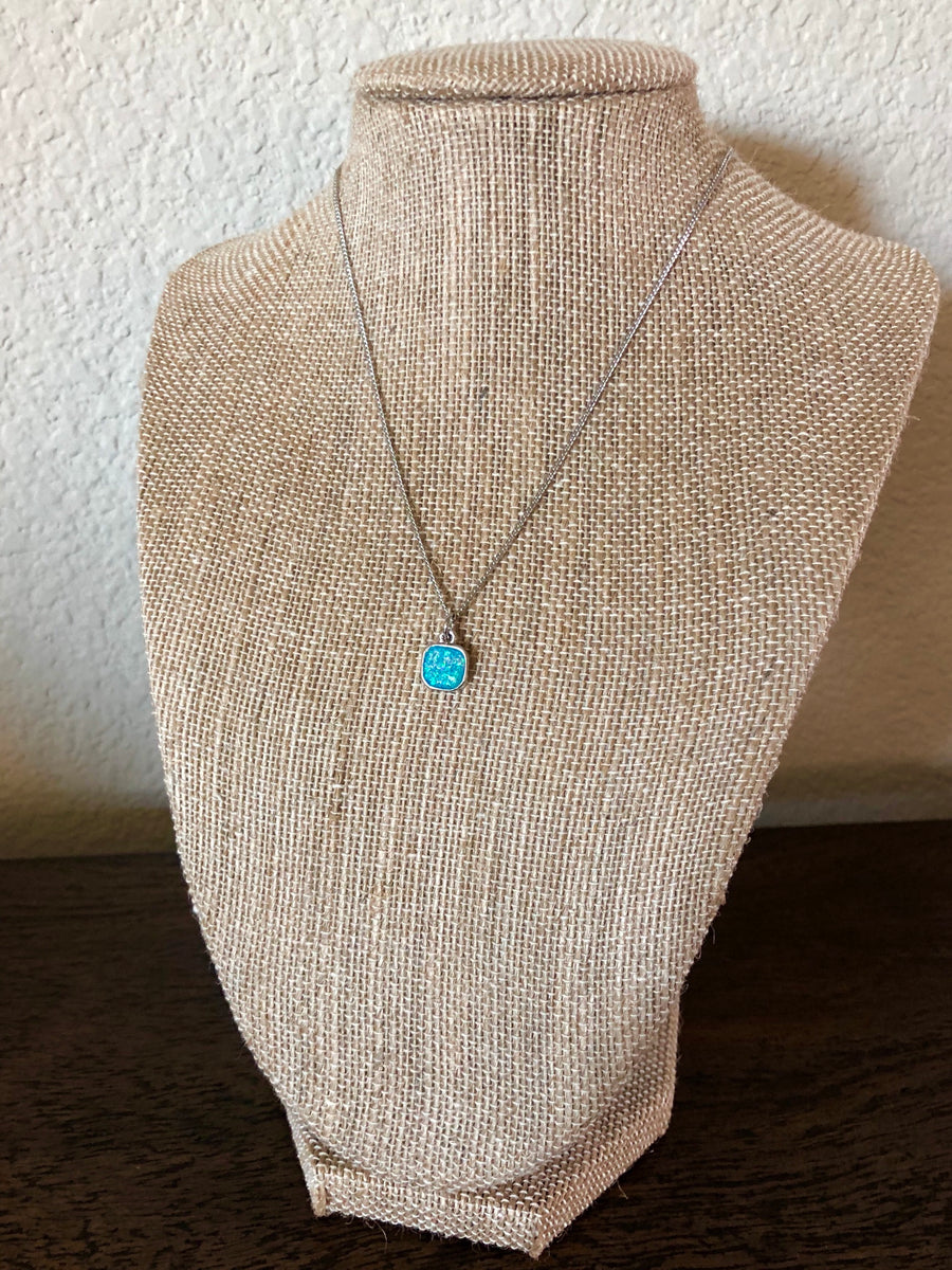 Blue Lagoon Opal Necklace