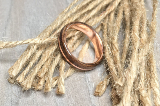 CUSTOM: Quarter Sawn Walnut Burl and Copper Ring