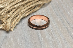 Walnut Burl and Copper Ring