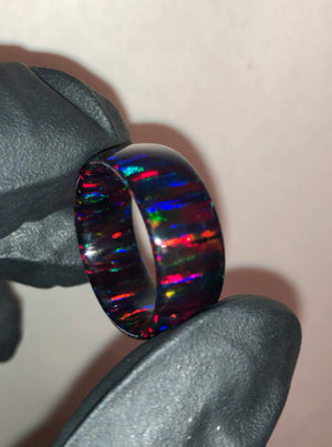 Crimson Solid Opal Ring
