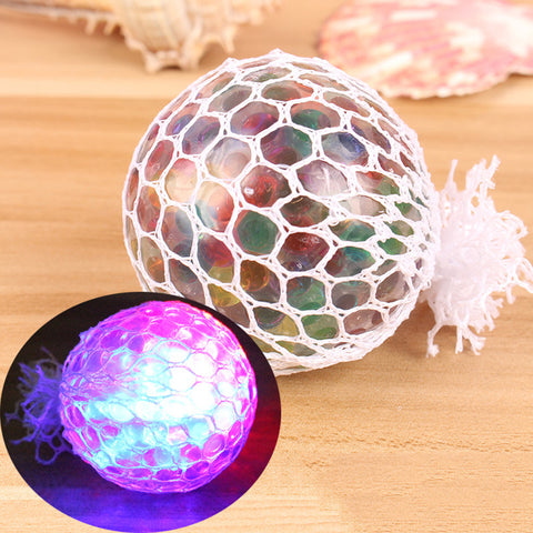 Mesh Squishy Glowing Anti-stress Ball