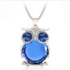 Image of Crystal Owl Pendant Necklace
