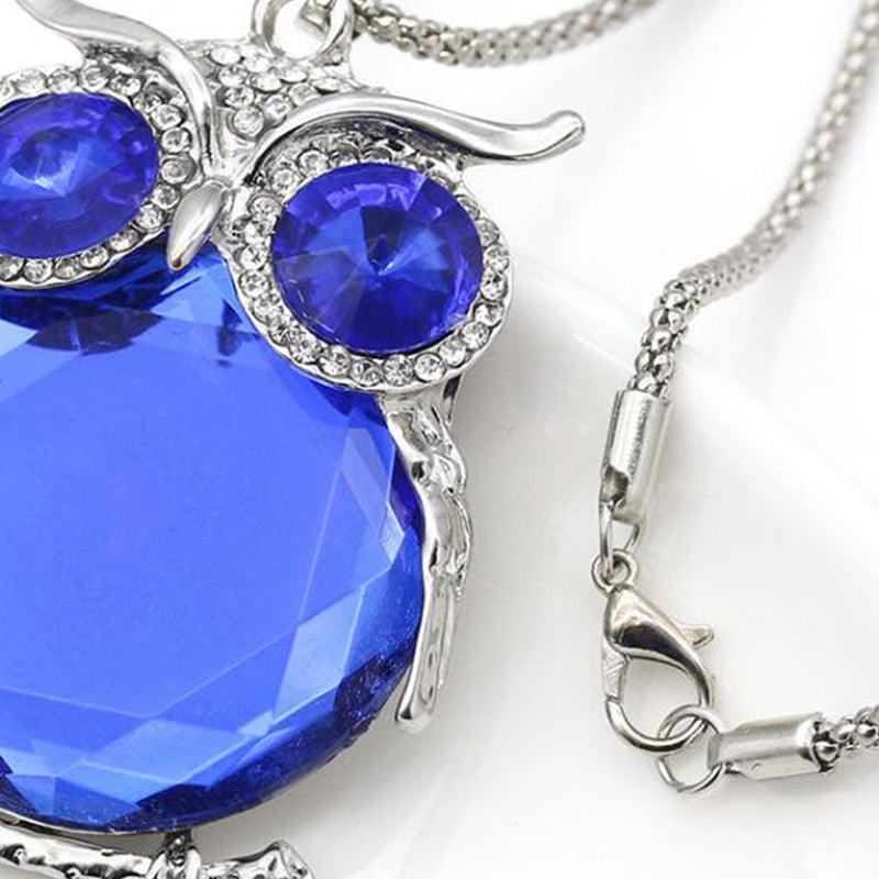 FREE Crystal Owl Pendant Necklace