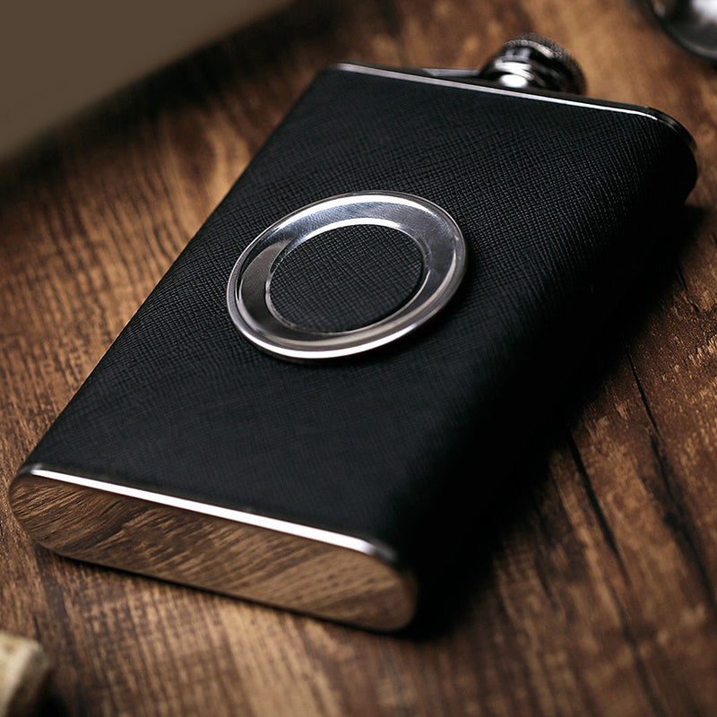 Stainless Steel Flask with Collapsible Shot Glass