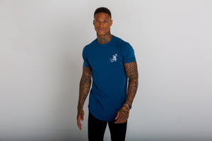 LONGLINE TEAL BLUE T-SHIRT