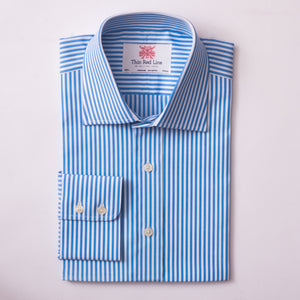BENGAL STRIPE SKY BLUE & WHITE CLASSIC SHIRT - Thin Red Line