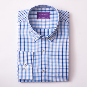 RAINBOW CHECK SKY CASUAL SHIRT
