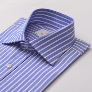 REGENT STRIPE AZURE SLIM SHIRT