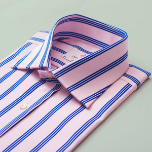 ASCOT STRIPE PINK CLASSIC SHIRT - Thin Red Line