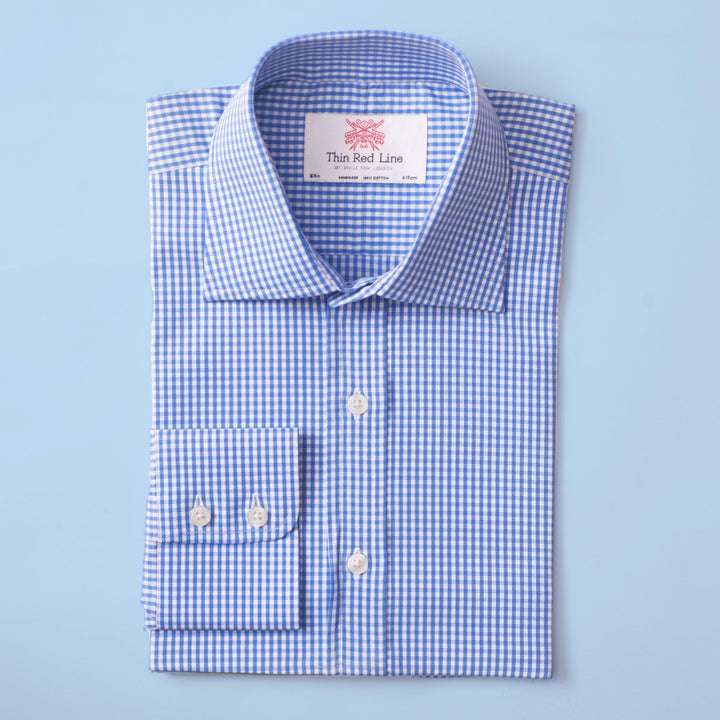 BENGAL CHECK AZURE CLASSIC SHIRT - Thin Red Line