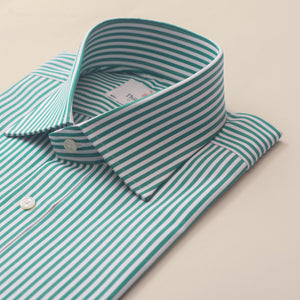 BENGAL STRIPE GREEN & WHITE CLASSIC SHIRT