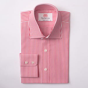 BENGAL STRIPE RED & WHITE CLASSIC SHIRT
