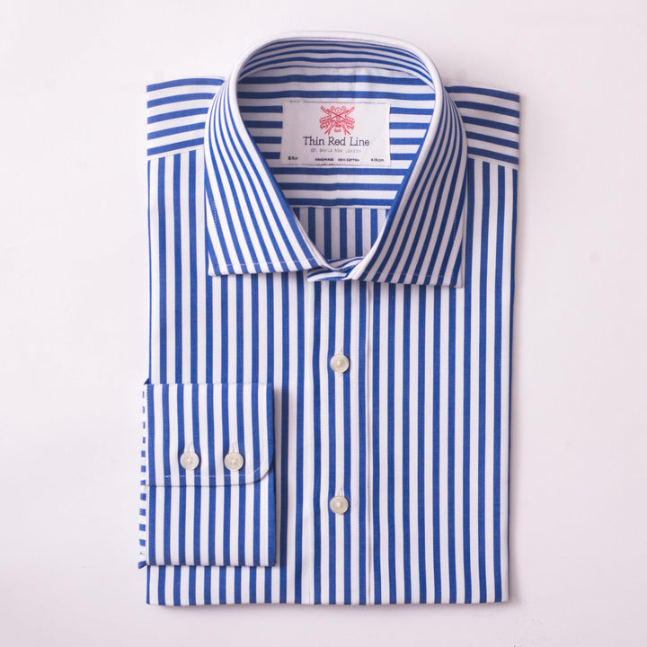 BROAD BENGAL STRIPE ROYAL BLUE CLASSIC SHIRT