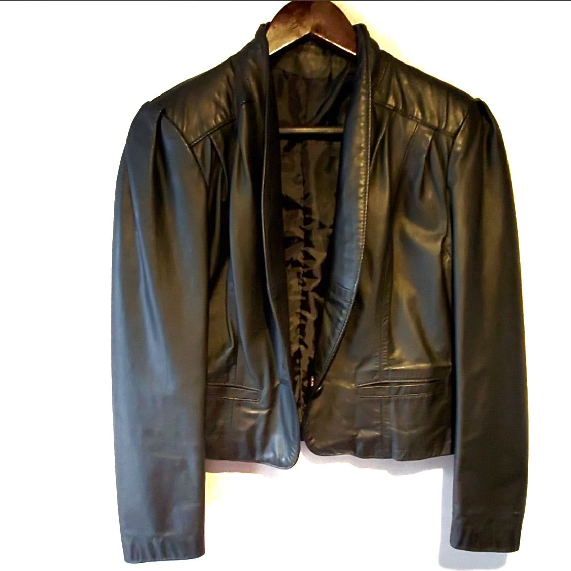 Leather Crop Jacket