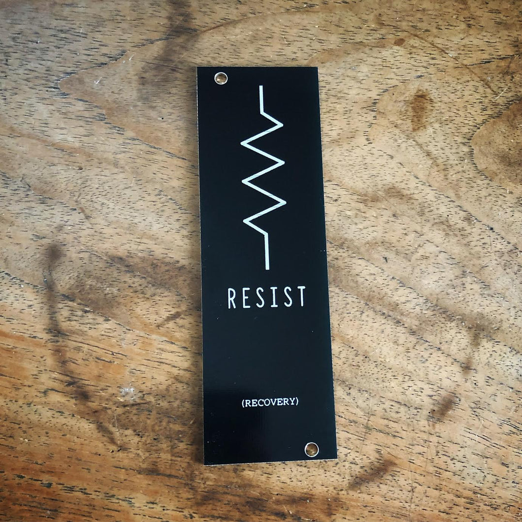 RESIST EURORACK PANEL (Modular Synth Filler)