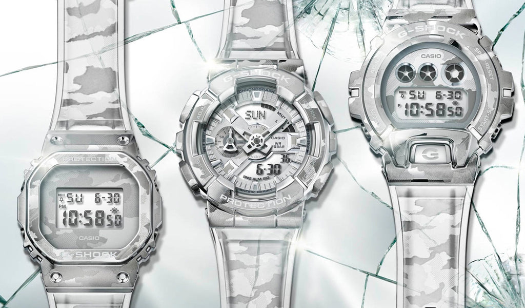 The new All-Metal-Bezel Skeleton Camo Series from G-Shock!