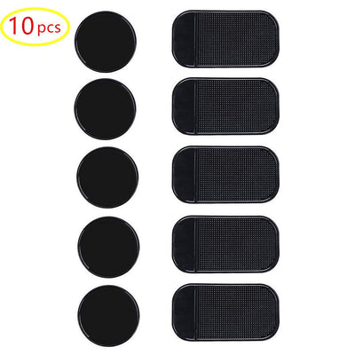 10pack Fixate Removable Silicone Sticky Anti-Slip Gel Pads Magic Gel Mat Stick to Car Dashboard Glass Mirrors Metal Tile Wall Kitchen Cell Phone Stand Recipe Holder Non-Slip Rug Pet Bowl Mat Pad
