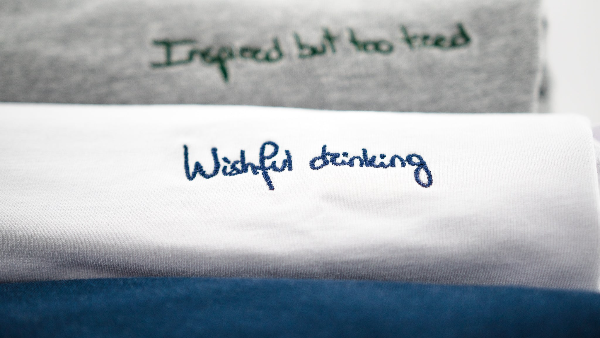 Wishful drinking || White / Navy