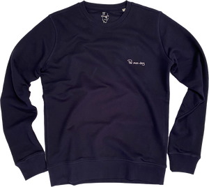 Pas mon-day (Sweater) || Navy / White